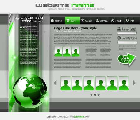 Illustration pour modern web template - image libre de droit