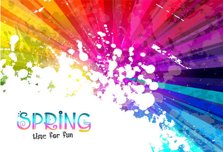 Ilustración de Spring Colorful Explosion of colors background for your party flyers, posters or brochure backgrounds - Imagen libre de derechos