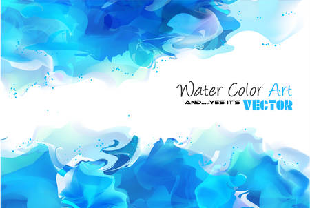 Illustration pour Watercolor Background and yes... it's vector! To use for poster, flyer background, page covers, letterheads, hipster stuff, business cards, brochures template and so on - image libre de droit