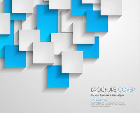 Illustration pour Brochure Template for Business Flyer Cover, Cards. Printed material, presentation backgrounds, depliant design - image libre de droit