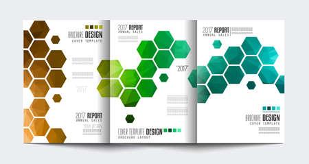 Ilustración de Brochure template, Flyer Design or Depliant Cover for business presentation and magazine covers, annual reports and marketing generic purposes. - Imagen libre de derechos