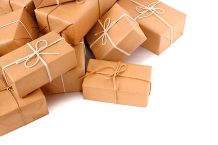 Photo for Untidy pile of brown parcels - Royalty Free Image