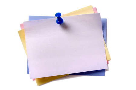 Photo for Several sticky post notes different colors - Royalty Free Image