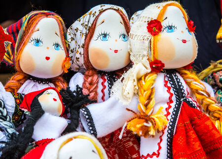 Photo for Beautifull girl toy: romanian handmade dolls in tradiditional costume - Royalty Free Image