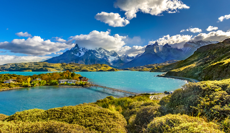 Photo for Torres del Paine over Pehoe lake,Patagonia, Chile - Southern Patagonian Ice Field, Magellanes Region of South America - Royalty Free Image