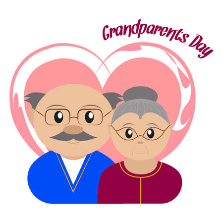 Illustration for Happy grandparents day Vector illustration. - Royalty Free Image