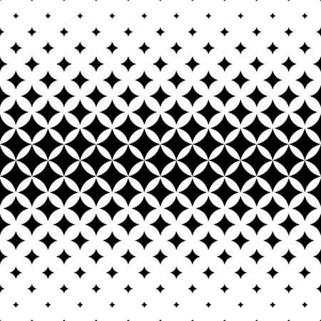 Illustration pour Seamless curved star pattern design vector background - image libre de droit