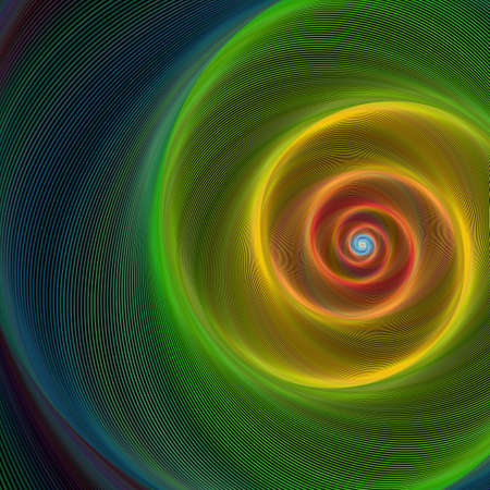 Illustration pour Green, yellow and red shiny spiral background - image libre de droit