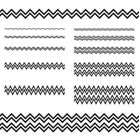 Illustration for Graphic design elements - zigzag line page divider set - Royalty Free Image