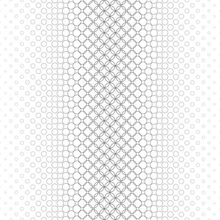Illustration pour Repeating monochrome vector circle pattern design background - image libre de droit