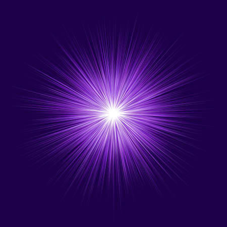 Illustration pour Abstract purple blast design on dark background - image libre de droit