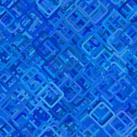 Ilustración de Seamless abstract geometric square pattern background - vector illustration from diagonal rounded squares in blue tones - Imagen libre de derechos