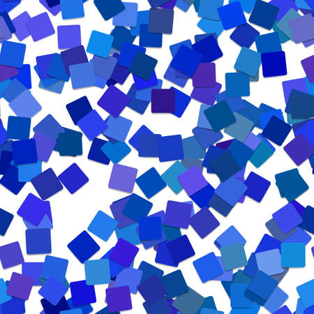 Ilustración de Seamless abstract square pattern background - vector graphic design from rotated blue squares - Imagen libre de derechos