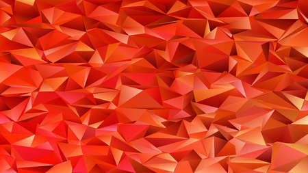 Illustrazione per Geometrical abstract chaotic triangle pattern background - mosaic vector graphic from triangles in red tones - Immagini Royalty Free