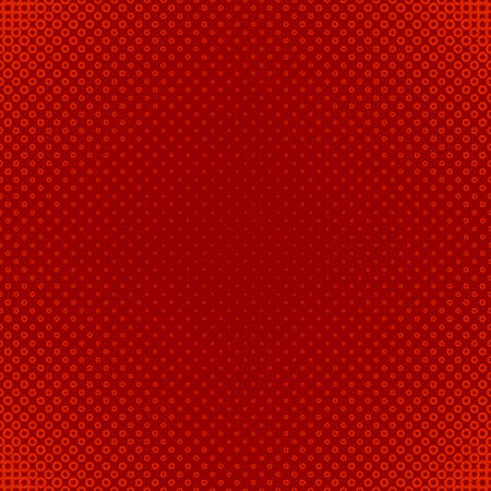 Illustration pour Red geometric halftone circle pattern background - vector graphic design from rings in varying sizes - image libre de droit