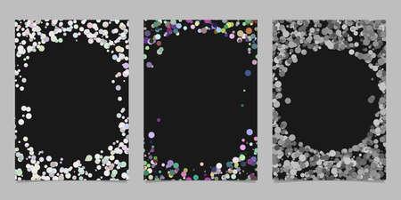 Ilustración de Abstract colored brochure template background set with dots - Imagen libre de derechos