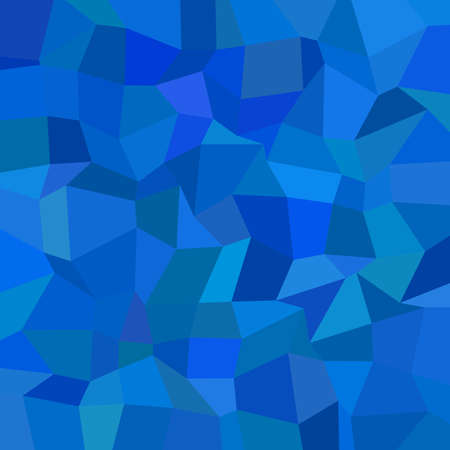 Illustrazione per Abstract geometrical rectangle mosaic background - polygonal vector graphic design from rectangles in blue tones - Immagini Royalty Free