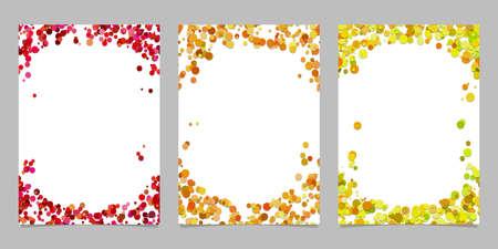Ilustración de Abstract colored brochure template background set with dots - vector graphic designs - Imagen libre de derechos