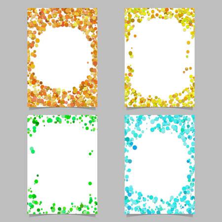 Ilustración de Random dot background round brochure border design set - vector graphics - Imagen libre de derechos