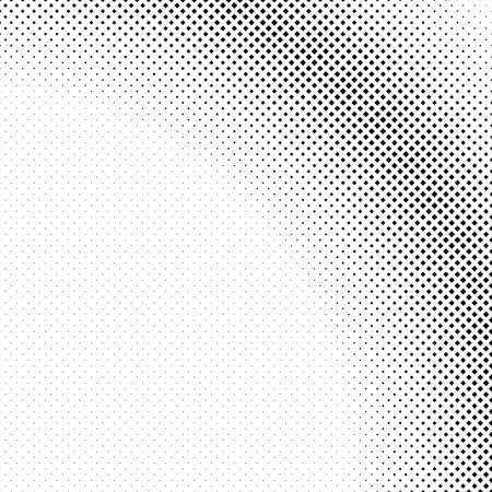 Ilustración de Monochrome halftone square background pattern design - abstract vector illustration - Imagen libre de derechos