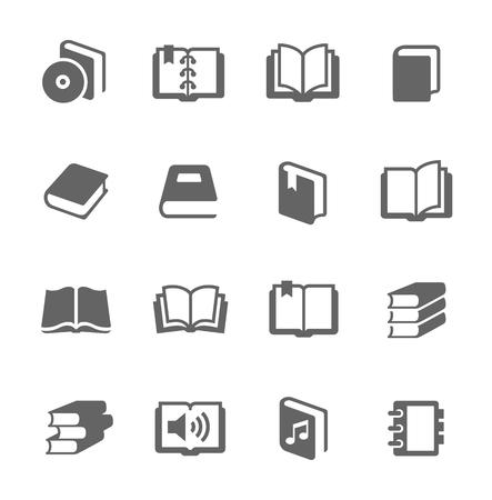 Ilustración de Simple set of books related vector icons for your design  - Imagen libre de derechos