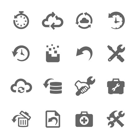 Illustration pour Simple set of recovery and repair related vector icons for your design - image libre de droit