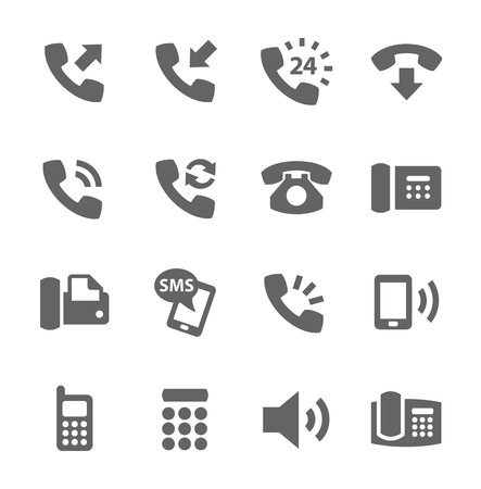 Photo for Simple set of phones related vector icons for your site or application  - Royalty Free Image