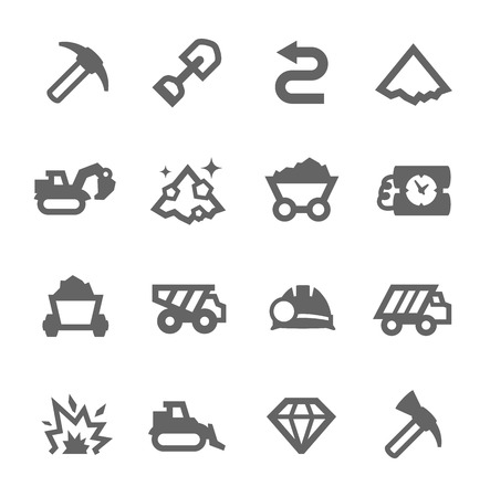 Illustration pour Simple set of digging and mining  related vector icons for your design - image libre de droit