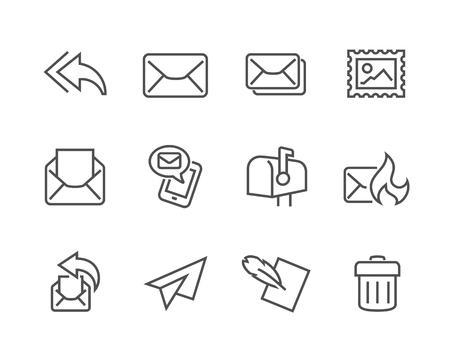 Illustration pour Simple Set of Mail Related Vector Icons for Your Design. - image libre de droit