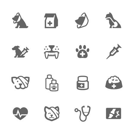 Illustration pour Simple Set of Pet Vet Related Vector Icons for Your Design. - image libre de droit
