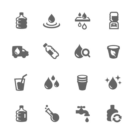 Illustration pour Simple Set of Water Related Vector Icons for Your Design. - image libre de droit