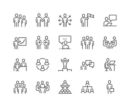 Illustration pour Line Business People Icons - image libre de droit