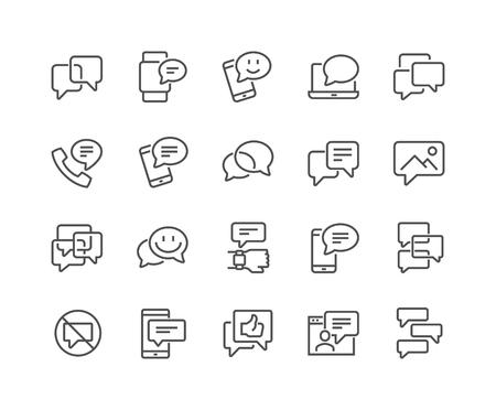 Ilustración de Line Messages Icons - Imagen libre de derechos