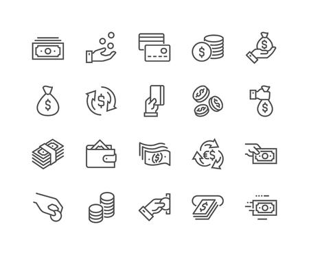 Illustration pour Line Money Icons - image libre de droit