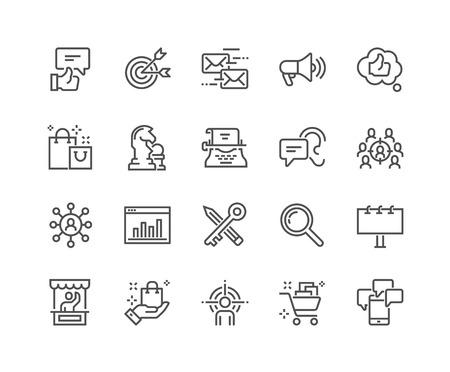Illustration pour Line Marketing Icons - image libre de droit