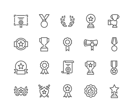 Illustration pour Line Awards Icons - image libre de droit
