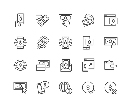 Illustration for Line Payment Icons - Royalty Free Image