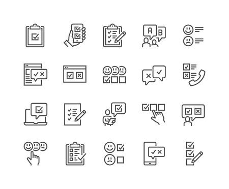 Ilustración de Line Survey Icons - Imagen libre de derechos
