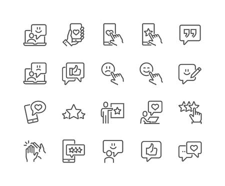 Illustration pour Line Feedback Icons - image libre de droit