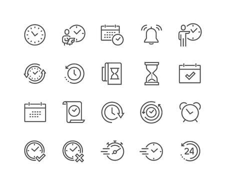 Illustration pour Line Time Icons - image libre de droit