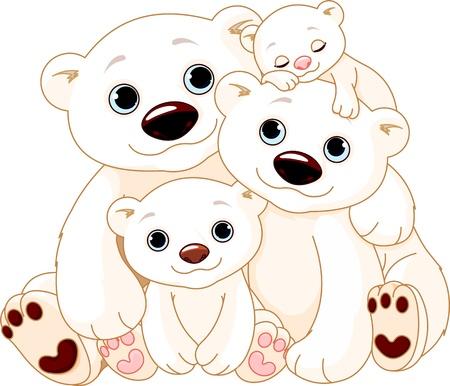 Photo for Illustrationn of Big Polar bear family  - Royalty Free Image