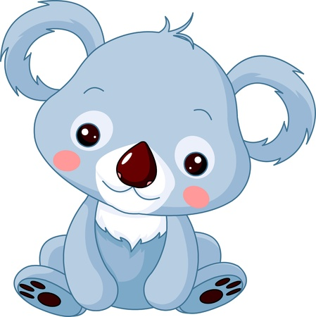 Photo for Fun zoo. Illustration of cute Koala Bear - Royalty Free Image