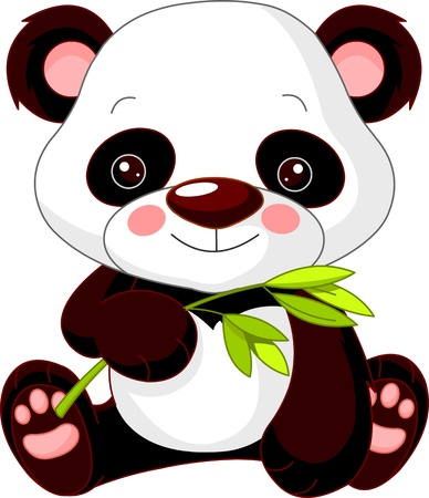 Photo for Fun zoo. Illustration of cute Panda - Royalty Free Image