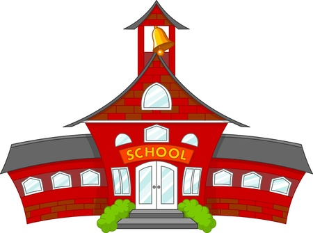 Photo for Illustration of cartoon school building  - Royalty Free Image
