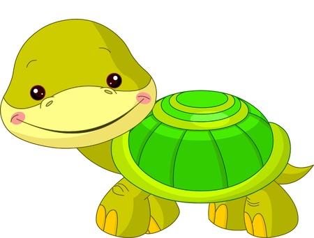 Fun zoo  Illustration of cute Turtle