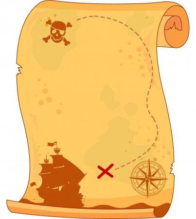 Illustration pour  Pirate   scroll - image libre de droit