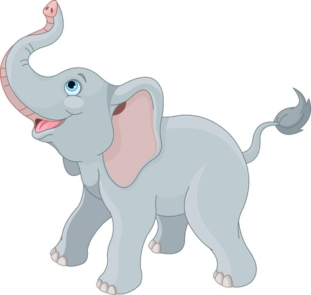 Photo for Very cute little elephant  - Royalty Free Image