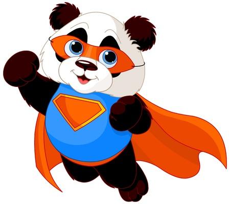 Illustration pour  Illustration of Super Hero Panda  - image libre de droit