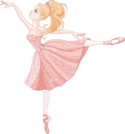 Illustration for Illustration of cute dancing ballerina - Royalty Free Image