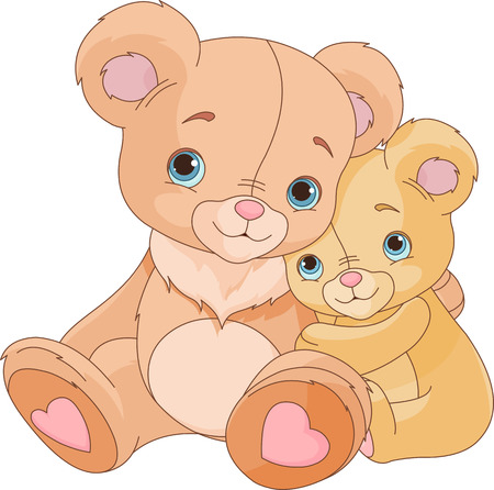 Photo for Cute pair of hugging bears   - Royalty Free Image